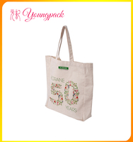 promotional 100% recyclable cotton canvas bag for shopping
