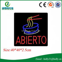 High quality flashing animated full color led adverting sign board for restaurant