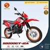 Export High Quality Chinese Pit Bike Red 200cc Dirt Bike for Sale HyperBiz SD200GY-12A