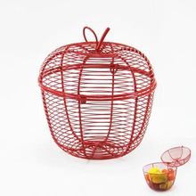 Specific Vermeil Apple Shaped Closed Wire Fruit Basket