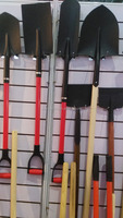 Garden Spade With Wood Handle Shovels Red Poly D Grips