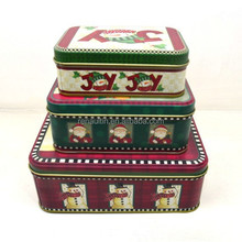 Christmas gift tin box