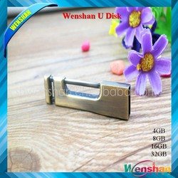 2015 USB New Products Old classical style Gold lock usb thumb flash drive