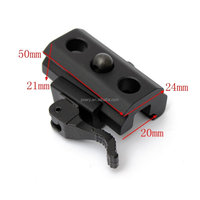 QD Quick Detach Cam Lock Bipod Sling Adapter Mount for Picatinny Weaver Rail 20mm Bipod or Sling Swivel Airsoft BP-03