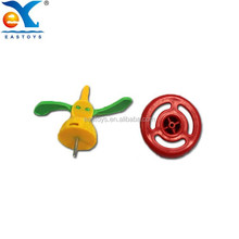 Hot Sale Funny Small Colorful Plastic Spinning Top Toy For Kids