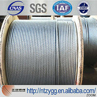 galvanized steel wire rope 10mm galvanized steel messenger cable size from 1.0mm to 45mm made in nantong