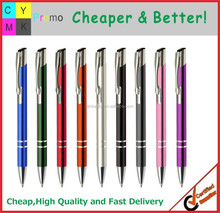 2015 Cheap metal material logo printed metal desk pen