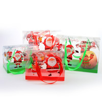 Cheap cute christmas candy gift bags Apple gift bags PVC 20*11*14.5 cm L Size