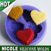 F0339 Nicole heart shape cookie handmade cake decoration tools silicone fondant mold