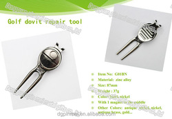 Golf Divot Fixer Golf Divot Tool With Ball Marker/Cheap Metal Divot Tool