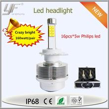 2015 Newest Led Healight h3 h4 h7 9004 9006 12v 24v dc High Power h1 Led Bulb Headlight for SUV,STV,Trucks