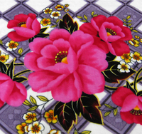 wholesale polyester flower printed double-sided lannel fabric for Blanket