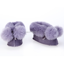 JLX5203 2015 the latest design, Australian sheepskin wool-one baby shoes,Sheep fur baby shoes winter warm and comforable shoes