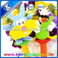 cartoon ballpoint pen/ballpoint pen with cute animal shape dipped/ball pen