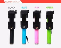 The Newest Spuerme Mini Selfie Stick with Cable with Pen Size Easy to Carry