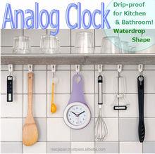 Wash room analog clock waterproof with wall clock hooks