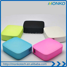 Factory Price!! Promotional Super Slim Colorful Square Universal Portable Mobile Power Bank