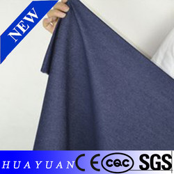 Cheapest High density elastic denim fabric for shirting fabric