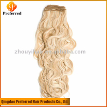 Wholesale Cheap Virgin Indian Remy Hair Weave, Honey Blonde Curly Weave Hair
