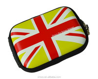 CROCO 2014 High quality UK flag universal waterproof eva camera case with metal logo for Business Casual