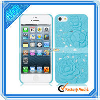 Blue 3D Rose Protective Phone Case For iPhone 5 (87006975)