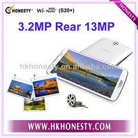 """6.5"""" IPS Touch Screen Quad Core RAM 1G ROM 16GB GPS WIFI 3G WCDMA Dual Sim Android 4.2 CE Certificate MTK6589 Mobile Phone"""