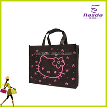 cute non woven shopping bag with lovely printing