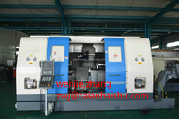 CNC350T hydraulic chuck tailstock servo spindle driver live tool cnc turning center with price
