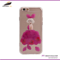 [Somostel] Dry pressed flower real flower Cell Phone Case, Sexy Girl Colourful Mobile Phone Case, Hard Cover For iPhone Samsung