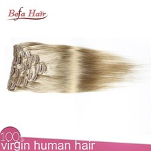 2015 new OEM hair extensions light yaki clip in remy hair extensions 200g