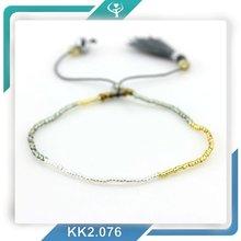 2016 new fashion blue tassel braided miyuki seed beads handmade bracelet mens fashion accessories