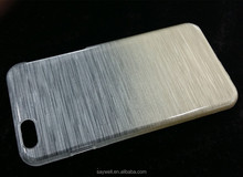 Ultra Thin PC Cover Case with Wiredrawing Pattern for Apple for Iphone6