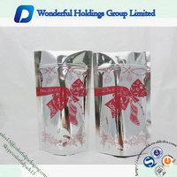 accept custom shiny Christmas gift packaging bag resealable custom aluminum foil packaging bags