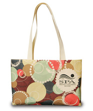 Made in the USA Hipster organic tote bag. Made from 100% organic cotton canvas. Comes with your full color print logo.