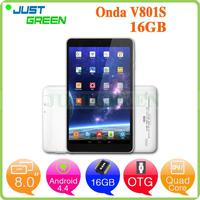 Gold Supplier Onda V801S 8 inch 512MB 16GB Android 4.4 White Wifi Version touch screen replacement android tablet Shenzhen