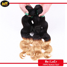 2015 Best Selling Ombre Two Tone Remy Brazilian Human remy hair extension ombre color