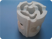 Chemical random packing 17-30% alumina ceramic wheel ring for coal gas industry