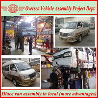 assemble ckd kits jinbei hiace passenger van with one's own brand and logo