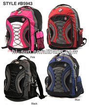 "New Padded 18"" 600D Polyester Boys and Girls School Backpack Multi Pockets High School Bags"