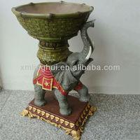 Cute Indian Style Polyresin Garden Elephant Planter For Sale