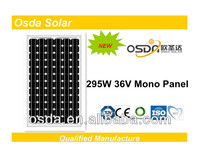 Mono and poly 295w multi crystalline solar panels
