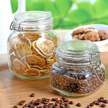 100ml clip top glass jar, square small glass jar ,glass clip lid jars