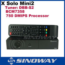 Hot selling DVB-S2 enigma2 Linux Satellite Receiver X Solo mini 2 HD set top box in stock