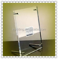 Clear Acrylic Nail Picture Frame For Table Top