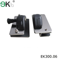 Frameless glass pool hinge glass door latch mechanism