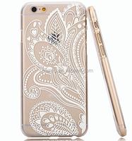Henna White Floral Paisley Flower Mandala case for iphone 6