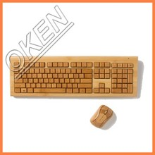 Top quality and Eco-friendly wireless bamboo computer keyboard and mouse