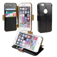 Famouse Korea Style Flip Leather Case for iPhone 6 with Apple Hole