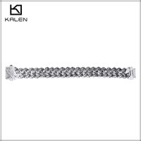 Wholesale stainless steel charm filigree skeleton hand ring bracelet