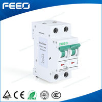 Wenzhou Hot best quality dc mcb FPV-63 2 pole dc mcb FPV-63 2phase 550VDC 1A-63A electric dc miniature circuit breakers